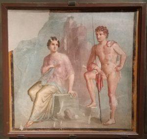 """""""Io, Argo"""" - frescă din casa lui Meleagro din Pompei (62-79 e.n.), Muzeul de Arheologie din Napoli. Foto: Irina Tomșa."""