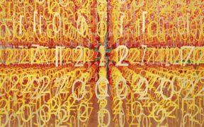 """100 colors #18 – """"Forest of Numbers"""" ianuarie 2017, Centrul Național de Artă din Tokio. Sursa foto: emmanuellemoureaux.com."""