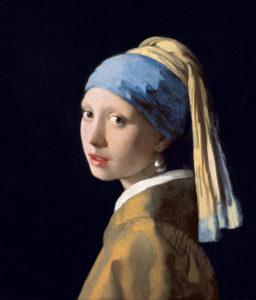 """Johannes Vermeer, """"Fata cu cercel cu perlă"""", cca 1665"""