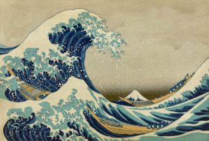 """Katsushika Hokusai, """"Marele val din Kanagawa"""""""