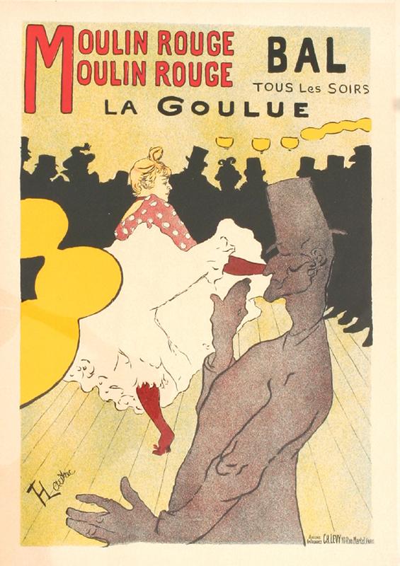 """Henri de Toulouse-Lautrec – """"Moulin Rouge"""". Sursa foto: internationalposter.com."""