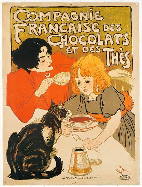 Théophile Steinlen: exemplu de afiș cu pisică nejustificată. Sursa foto: metmuseum.org.
