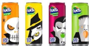 Varianta europeană de Halloween pentru doza de 33 cl., de la Fanta