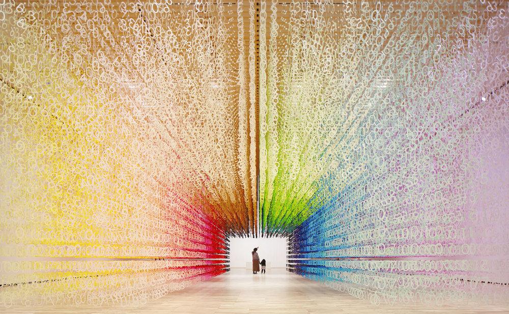 """100 colors #22 – """"Color of Time"""", Muzeul de Artă și Design din Toyama, noiembrie 2017 – ianuarie 2018. Sursa foto: emmanuellemoureaux.com."""