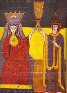 Emiratul de Cordoba, reprezentat simbolic de Facundus ca Târfa Babilonului