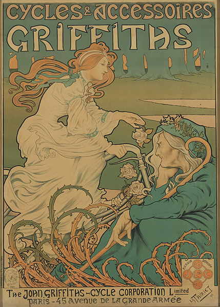 "Henri Thiriet – ""Biciclete și accesorii Griffiths"", 1898. Sursa foto: artsearch.nga.gov.au."