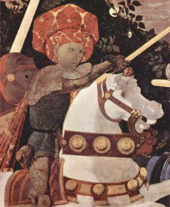 "Paolo Uccello - ""Bătălia de la San Romano"", detaliu. Sursa foto: Wikipedia"