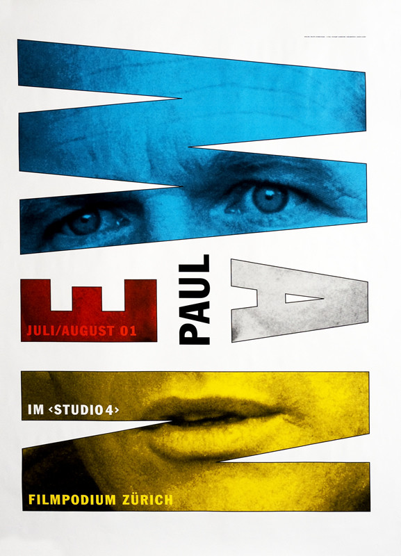 "Ralph Schraivogel – ""Newman"", Filmpodium, 2001. Sursa foto: internationalposter.com."