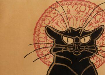 "Théophile Steinlen – afiș pentru turneul ""Le chat noir"". Sursa foto: googleartproject.com."