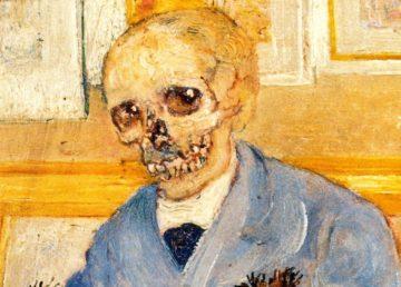 James Ensor - schelet la șevaletul gol, detaliu