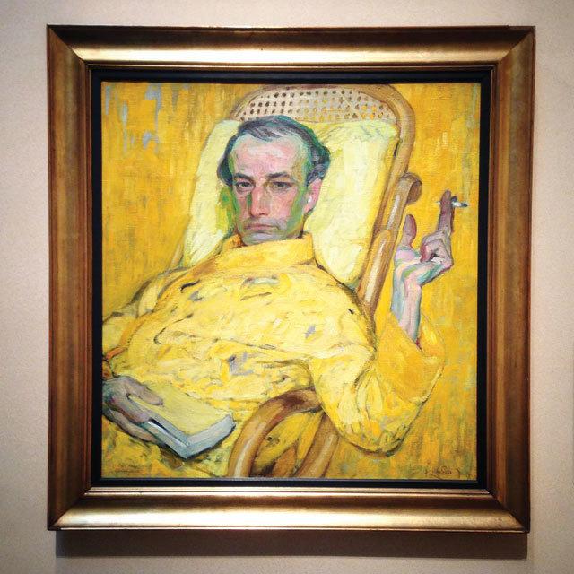 "František Kupka, tablou din seria ""Gama galbenă"" (cca. 1907)."