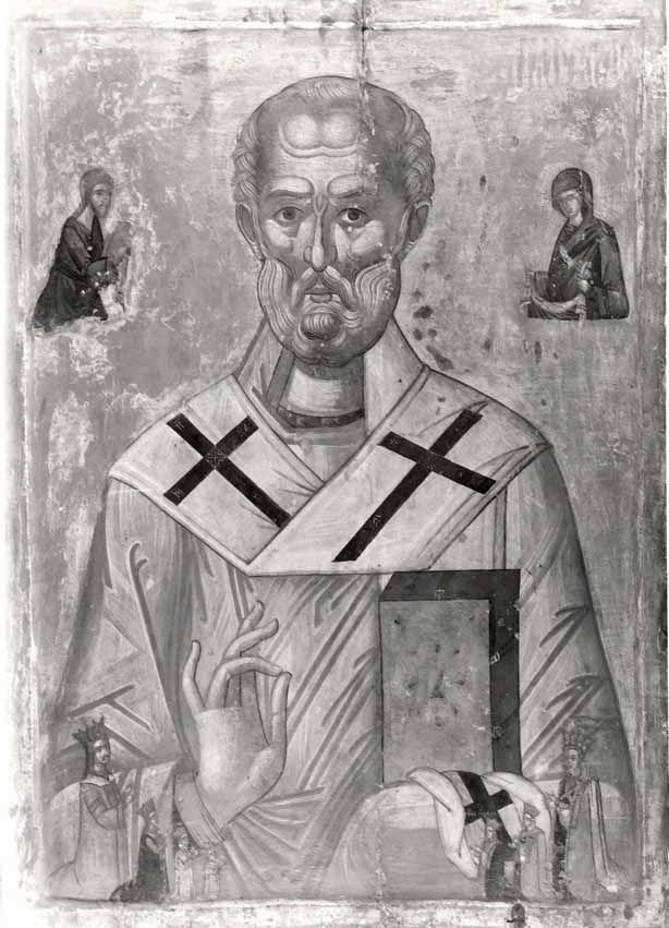 Icoana Sf. Nicolae donată de Neagoe Basarab și Despina Doamna Bisericii Episcopale din Curtea de Argeș în 1517. Sursa: cimec.ro